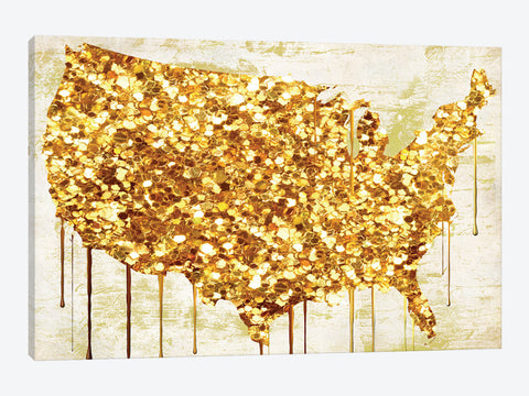 "Gold Flag II by Natasha Westcoat Canvas Print 60"" L x 40"" H x 1.5"" D"
