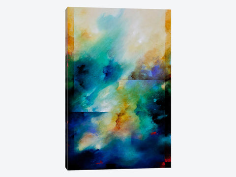 "Blueglow by Beth A Forst Canvas Print 26"" L x 40"" H x 0.75"" D"
