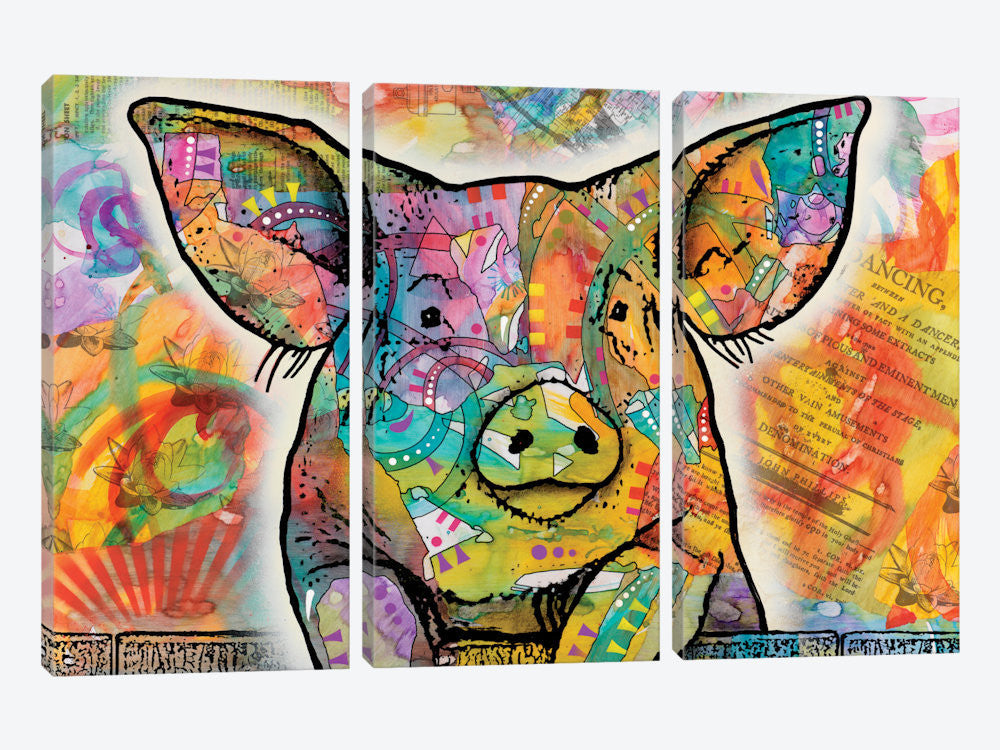 "The Pig by Dean Russo Canvas Print 60"" L x 40"" H x 0.75"" D - eWallArt"