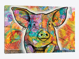 The Pig by Dean Russo Canvas Print 60
