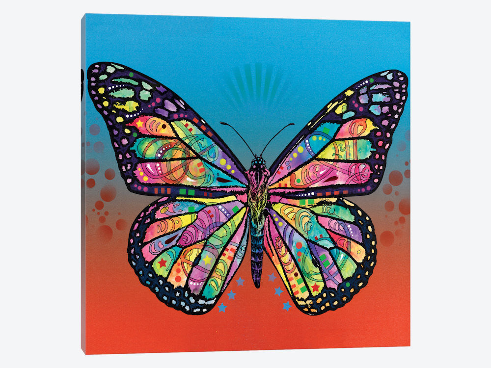 "The Butterfly by Dean Russo Canvas Print 26"" L x 26"" H x 0.75"" D - eWallArt"