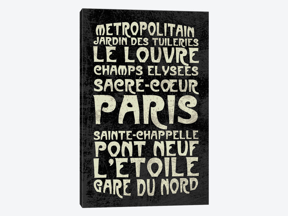 "Paris by Erin Clark Canvas Print 18"" L x 26"" H x 0.75"" D - eWallArt"