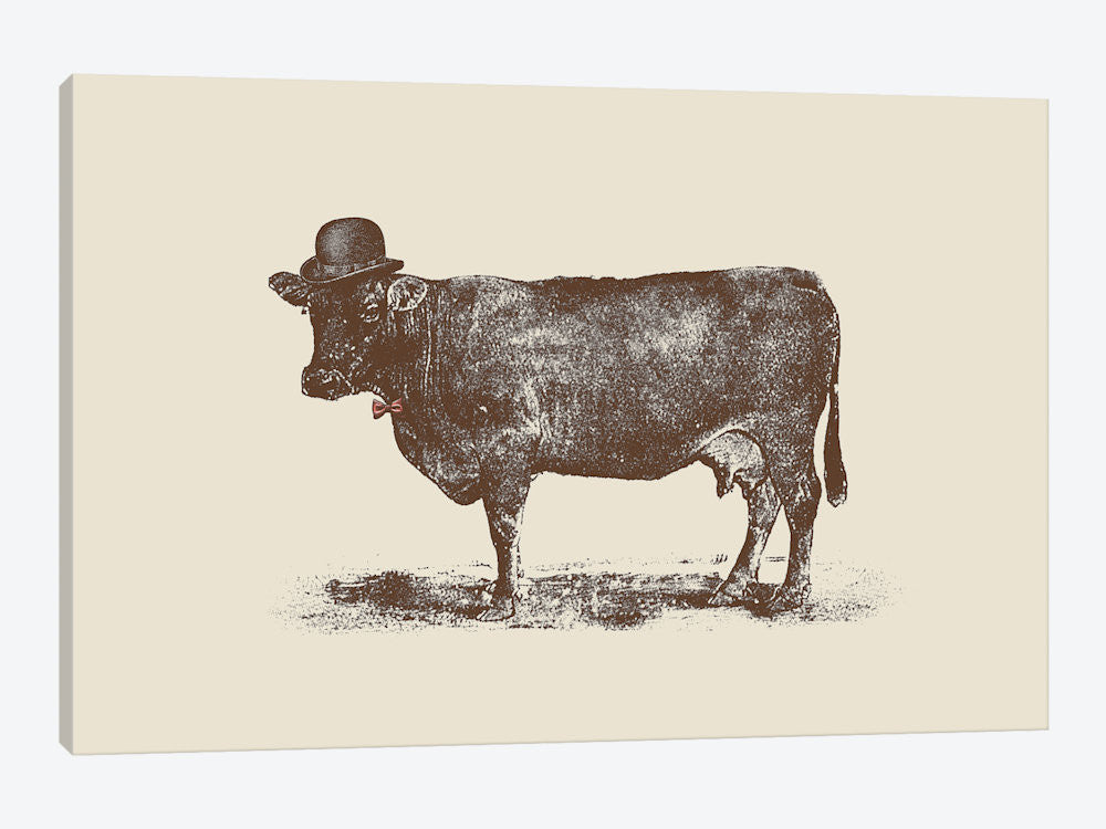 "Cow Cow Nut by Florent Bodart Canvas Print 40"" L x 26"" H x 0.75"" D - eWallArt"