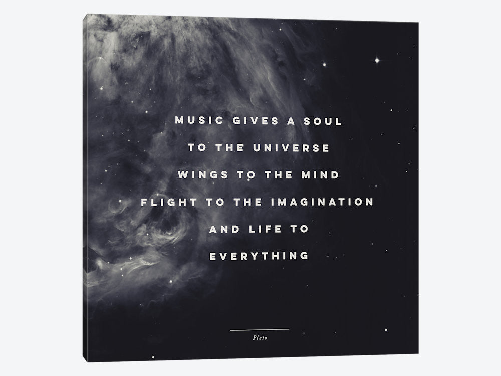 "Music I by Galaxy Eyes Canvas Print 26"" L x 26"" H x 0.75"" D - eWallArt"
