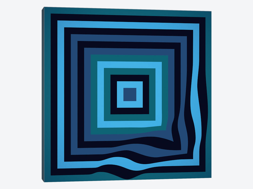 "Blue Ripple by Greg Mably Canvas Print 37"" L x 37"" H x 0.75"" D - eWallArt"