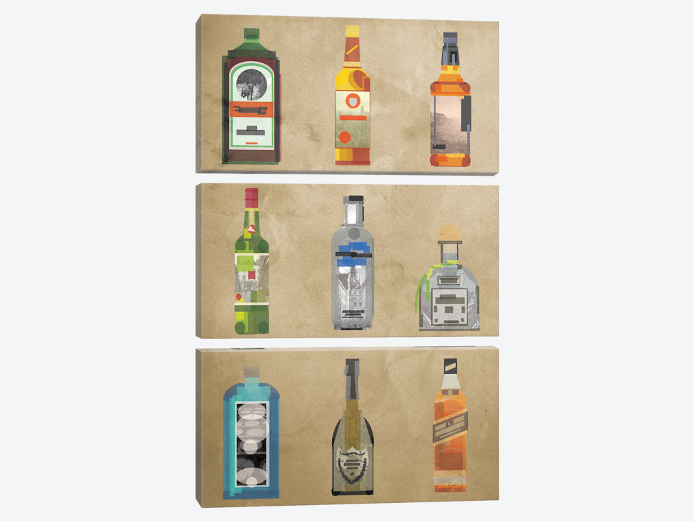 "Liquor Bottles by 5by5collective Canvas Print 40"" L x 60"" H x 0.75"" D - eWallArt"