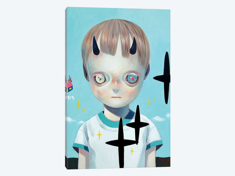 "Children of this Planet Series: XXII by Hikari Shimoda Canvas Print 26"" L x 40"" H x 0.75"" D - eWallArt"