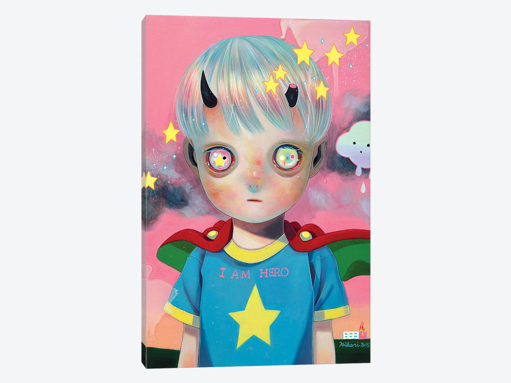 "Children of this Planet Series: XXIX by Hikari Shimoda Canvas Print 26"" L x 40"" H x 0.75"" D - eWallArt"