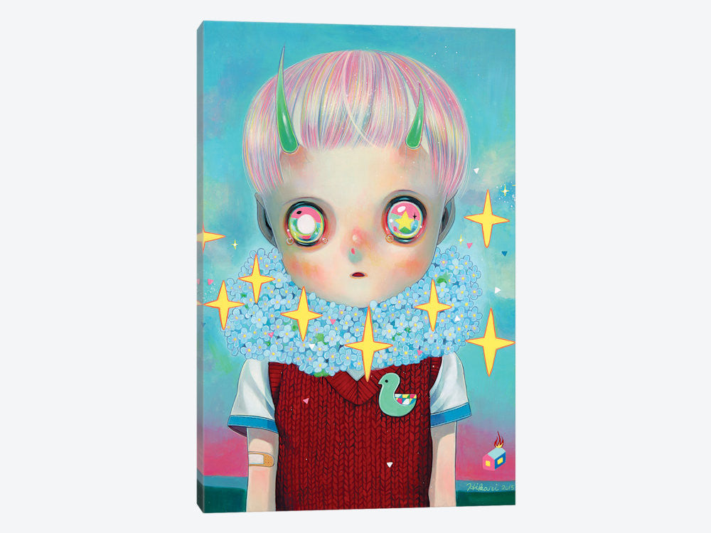 "Children of this Planet Series: XXVI by Hikari Shimoda Canvas Print 26"" L x 40"" H x 0.75"" D - eWallArt"