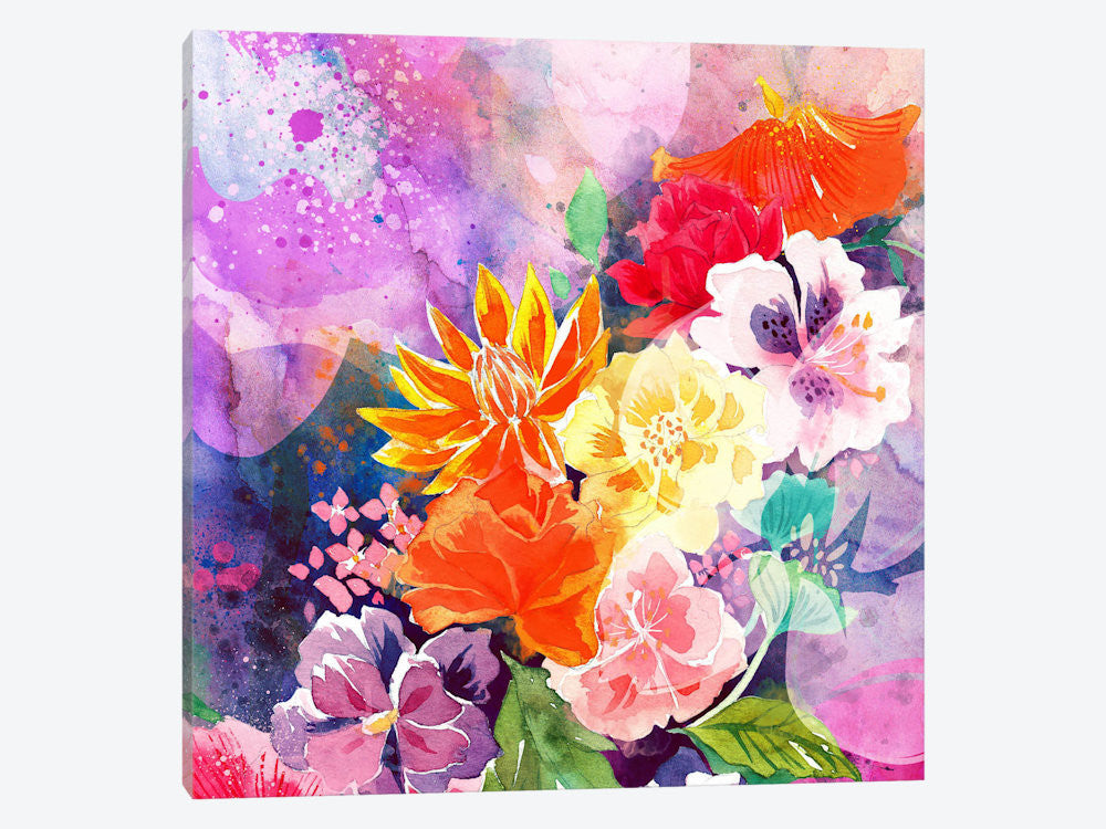 "Summer Blossoms by 5by5collective Canvas Print 37"" L x 37"" H x 0.75"" D - eWallArt"