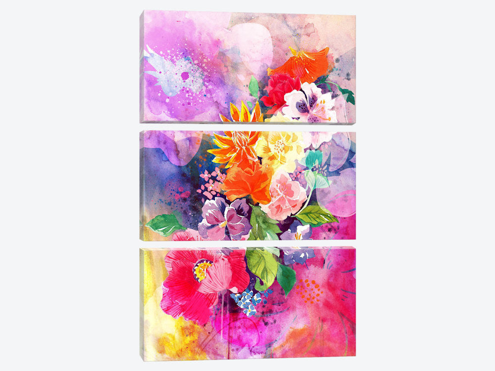 "Spring Flowers by 5by5collective Canvas Print 40"" L x 60"" H x 0.75"" D - eWallArt"