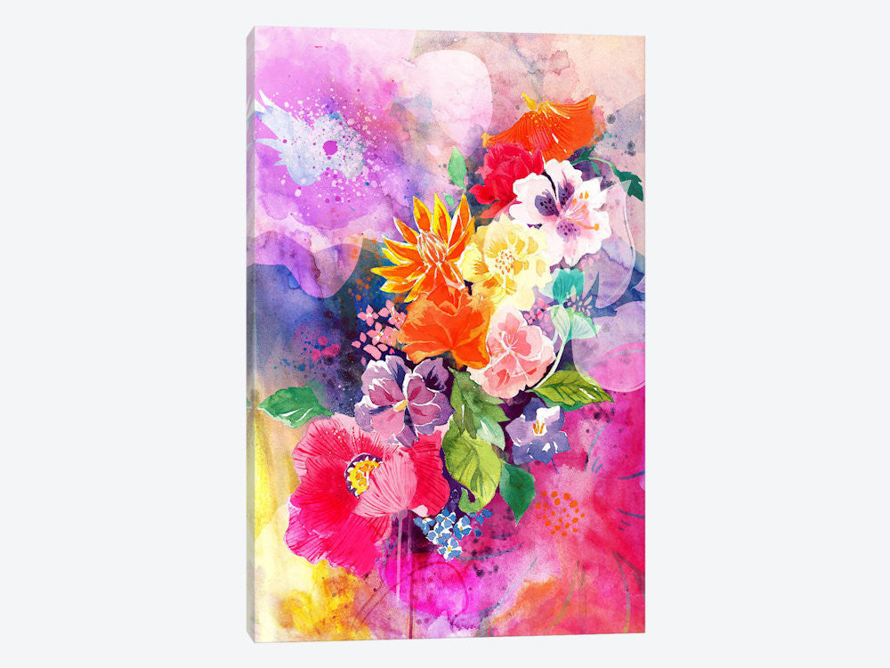 "Spring Flowers by 5by5collective Canvas Print 26"" L x 40"" H x 0.75"" D - eWallArt"