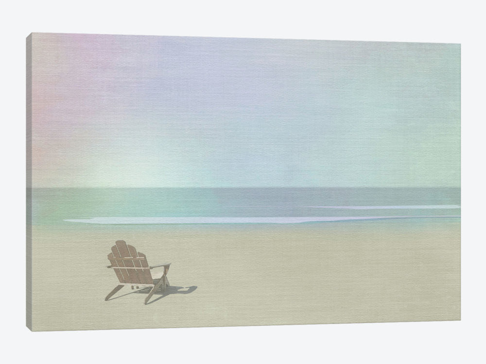 "Serene Beach by Noah Bay Canvas Print 26"" L x 18"" H x 0.75"" D - eWallArt"