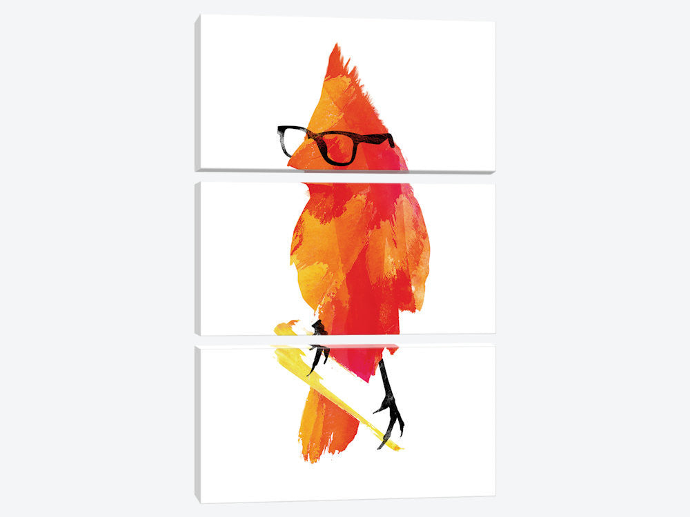 "Punk Bird by Robert Farkas Canvas Print 40"" L x 60"" H x 0.75"" D - eWallArt"