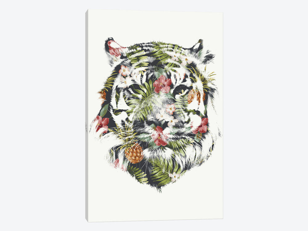 "Tropical Tiger by Robert Farkas Canvas Print 18"" L x 26"" H x 0.75"" D - eWallArt"