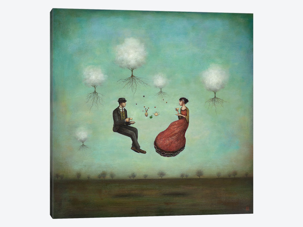 "Gravitea For Two by Duy Huynh Canvas Print 37"" L x 37"" H x 0.75"" D - eWallArt"