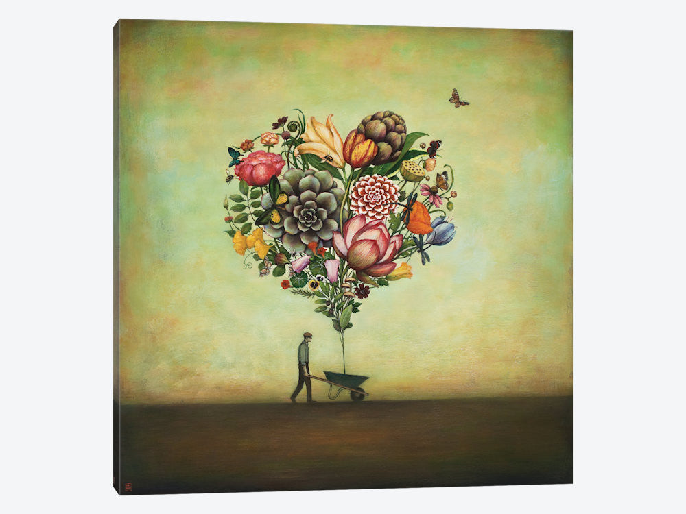 "Big Heart Botany by Duy Huynh Canvas Print 26"" L x 26"" H x 0.75"" D - eWallArt"