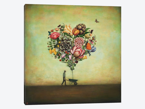 "Big Heart Botany by Duy Huynh Canvas Print 37"" L x 37"" H x 0.75"" D"
