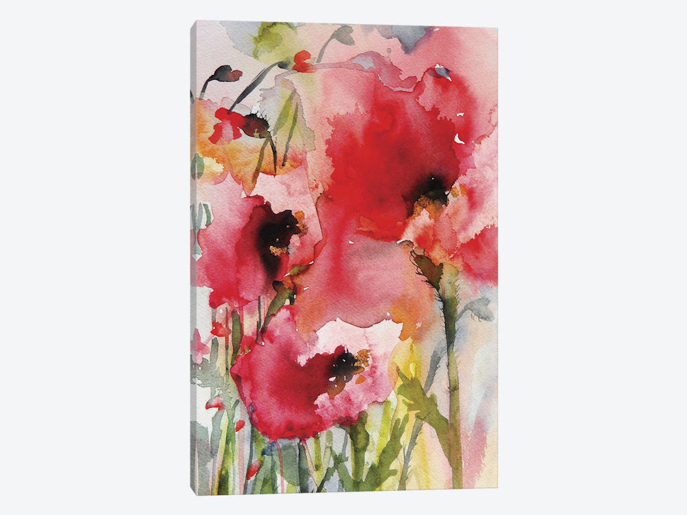 "Summer Poppies by Karin Johannesson Canvas Print 18"" L x 26"" H x 0.75"" D - eWallArt"