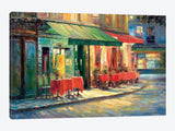 Red & Green Cafe by Haixia Liu Canvas Print 26