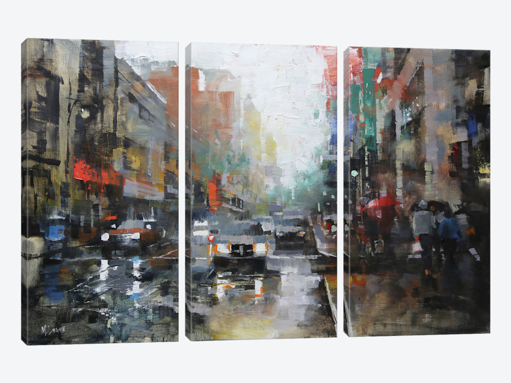 "Montreal Rain by Mark Lague Canvas Print 60"" L x 40"" H x 0.75"" D - eWallArt"