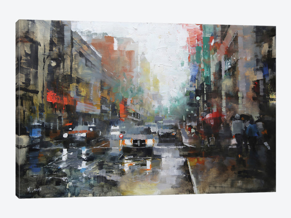 "Montreal Rain by Mark Lague Canvas Print 40"" L x 26"" H x 0.75"" D - eWallArt"