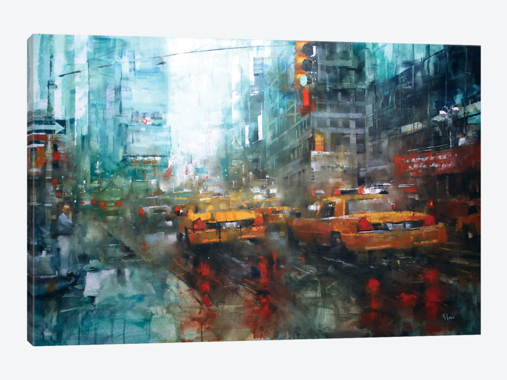 "Times Square Reflections by Mark Lague Canvas Print 26"" L x 18"" H x 0.75"" D - eWallArt"