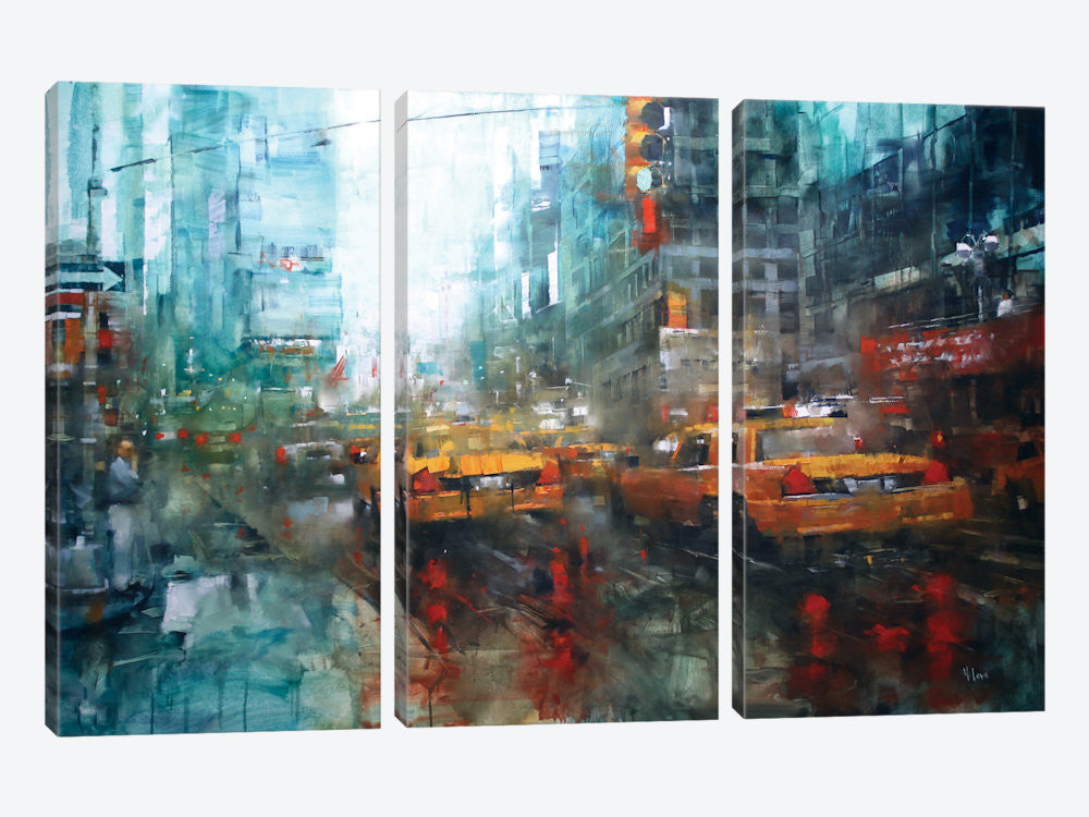 "Times Square Reflections by Mark Lague Canvas Print 60"" L x 40"" H x 0.75"" D - eWallArt"
