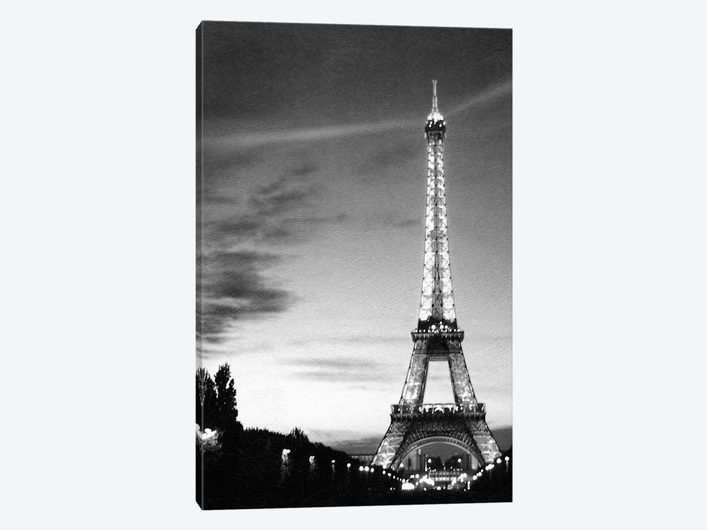 "Eiffel Tower by PhotoINC Studio Canvas Print 26"" L x 40"" H x 0.75"" D - eWallArt"