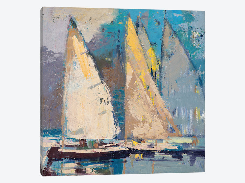 "Breeze Sail and Sky by Beth A Forst Canvas Print 26"" L x 26"" H x 0.75"" D - eWallArt"