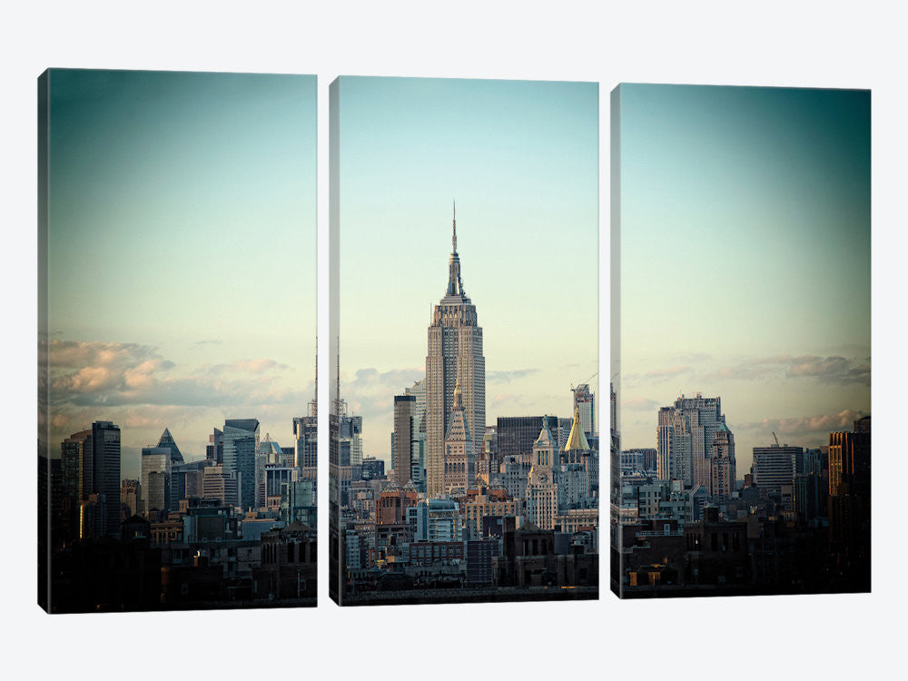 "Light Green Skyline by Thomas Juul Canvas Print 60"" L x 40"" H x 0.75"" D - eWallArt"