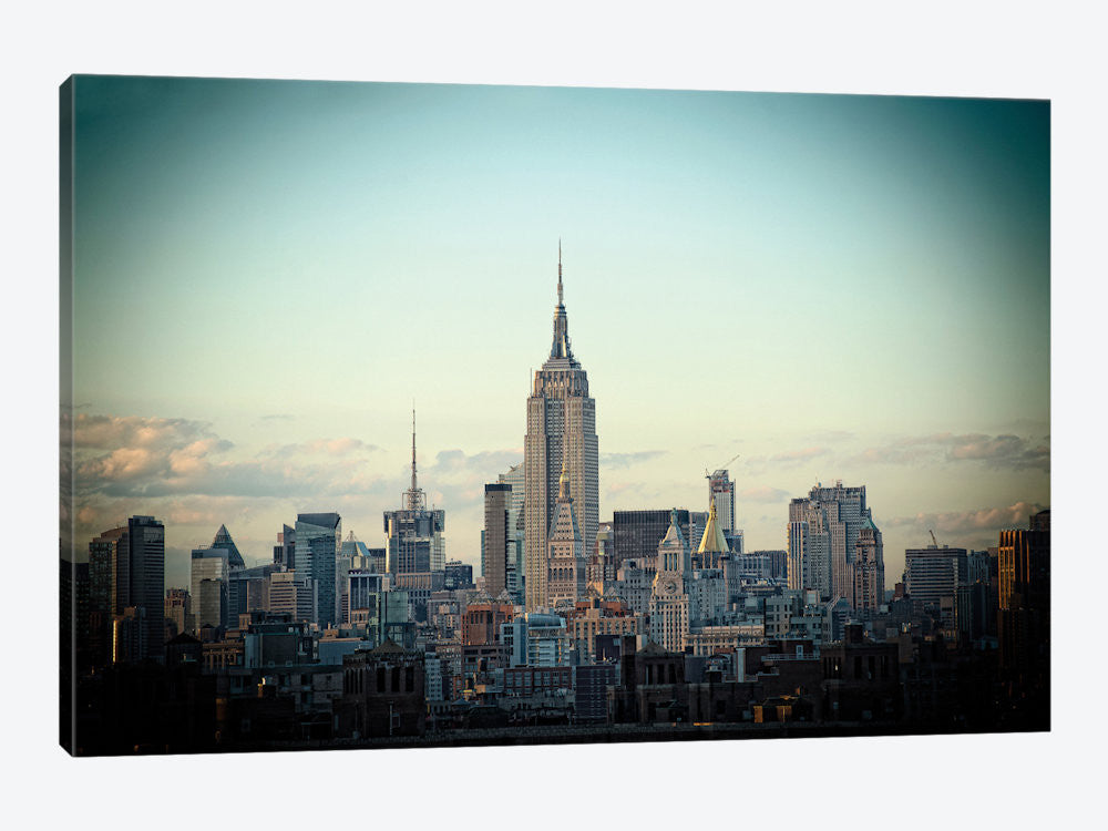 "Light Green Skyline by Thomas Juul Canvas Print 60"" L x 40"" H x 1.5"" D - eWallArt"