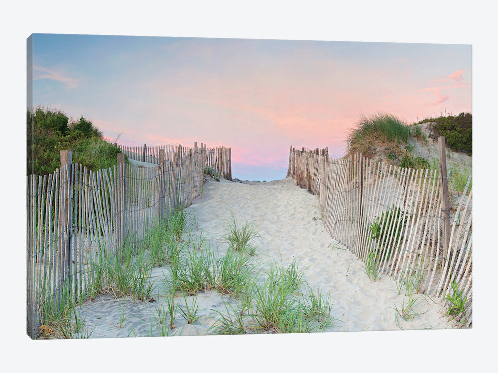 "Crescent Beach Path by Katherine Gendreau Canvas Print 40"" L x 26"" H x 0.75"" D - eWallArt"