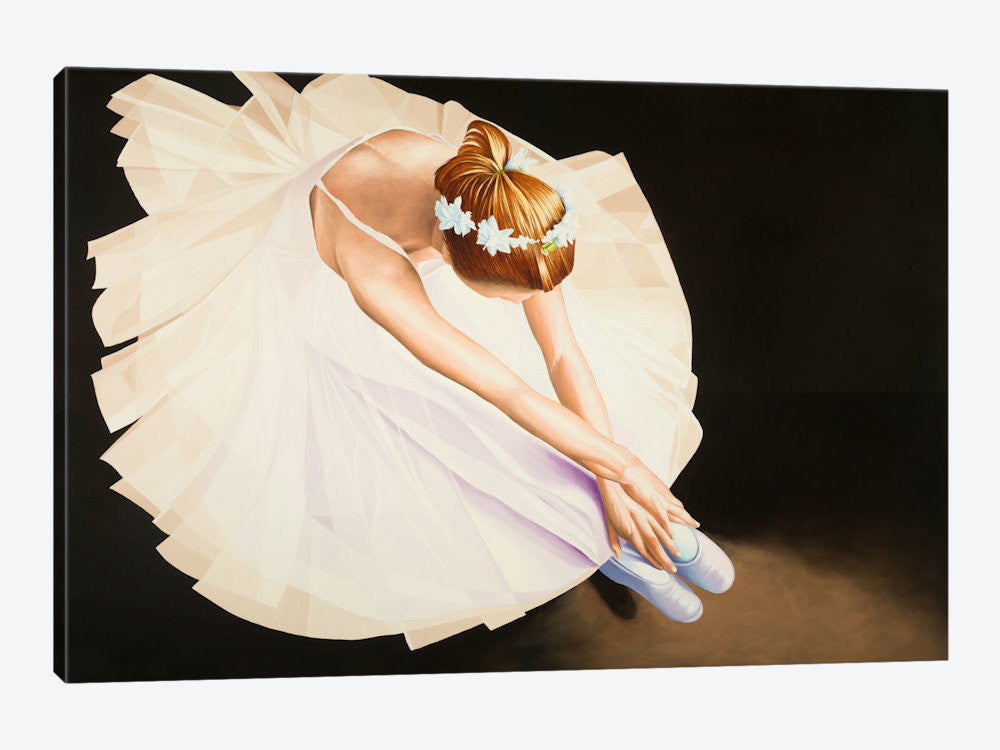 "The Ballerina by Karl Black Canvas Print 26"" L x 18"" H x 0.75"" D - eWallArt"