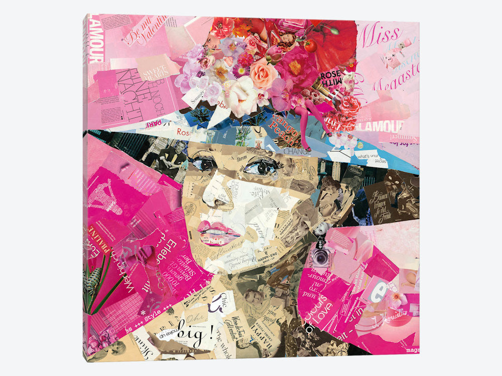 "Girl Next Door by Ines Kouidis Canvas Print 37"" L x 37"" H x 0.75"" D - eWallArt"