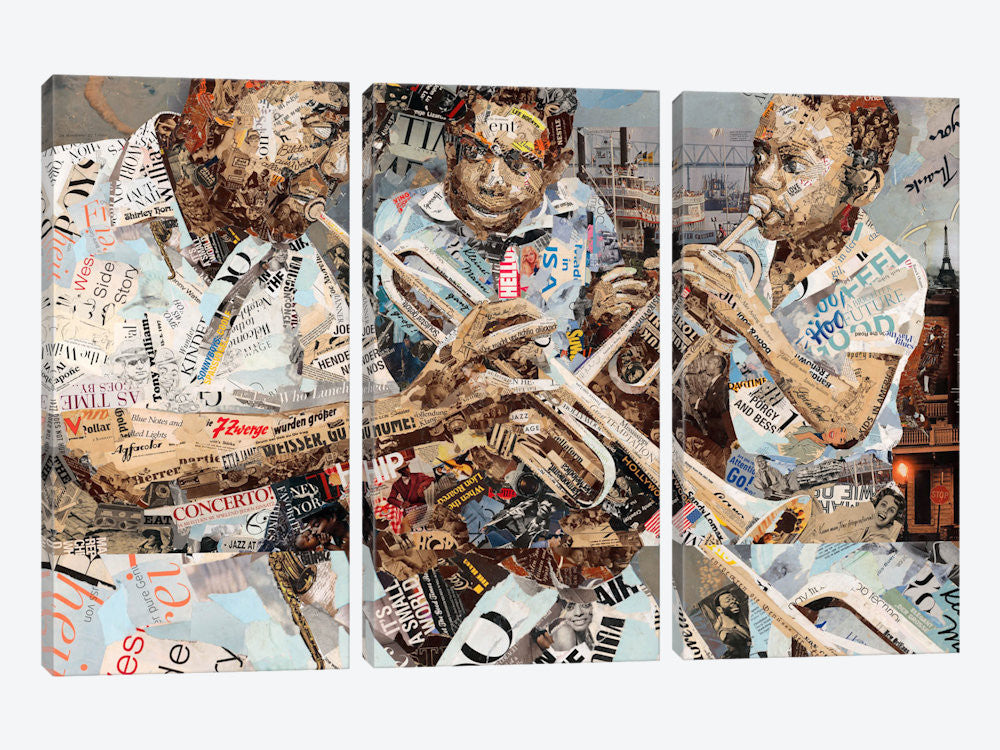 "Blues Boys  by Ines Kouidis Canvas Print 60"" L x 40"" H x 0.75"" D - eWallArt"