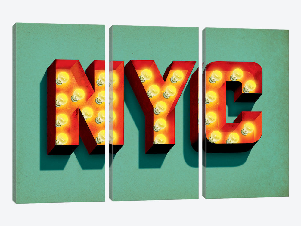 "NYC by Jeff Rogers Canvas Print 60"" L x 40"" H x 0.75"" D - eWallArt"