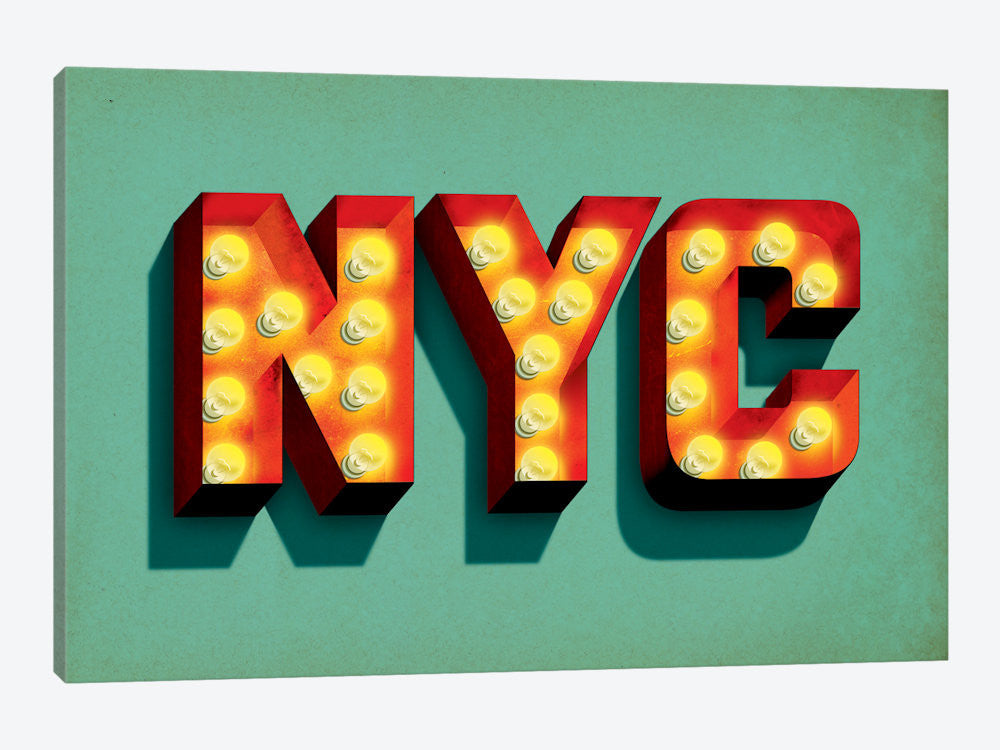 "NYC by Jeff Rogers Canvas Print 60"" L x 40"" H x 1.5"" D - eWallArt"