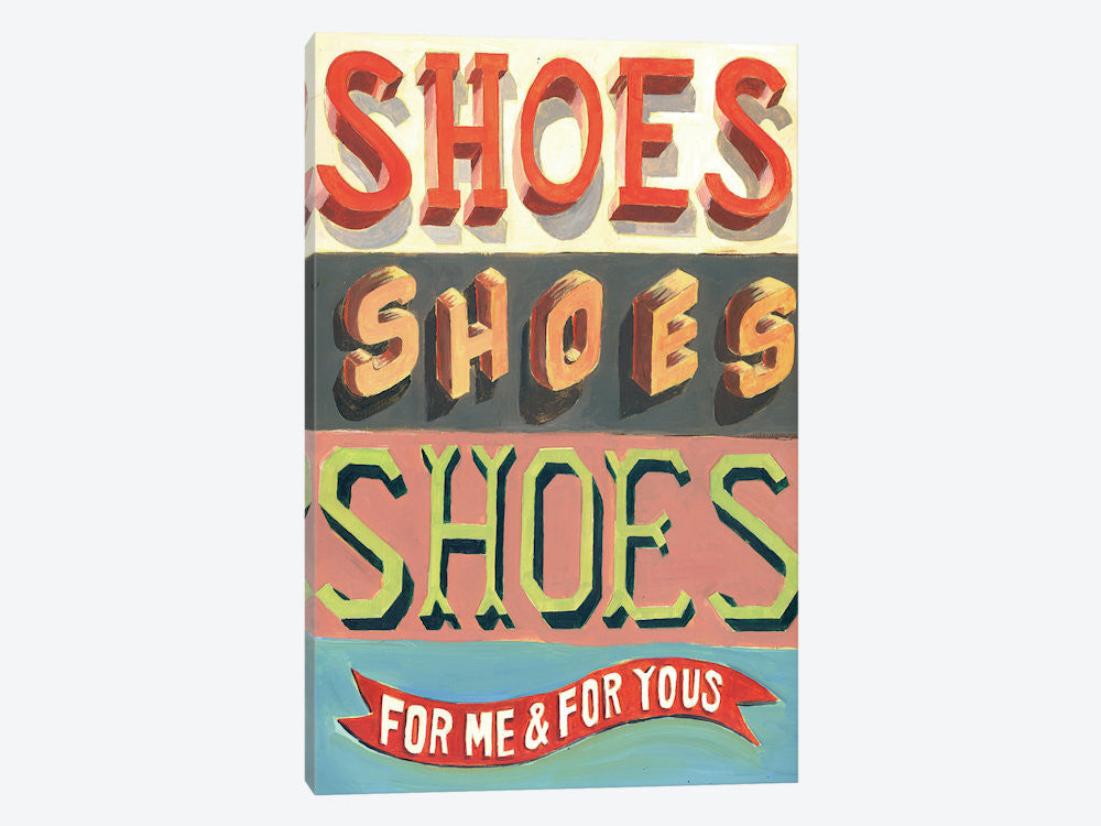 "Shoes! Shoes! Shoes! by Jeff Rogers Canvas Print 18"" L x 26"" H x 0.75"" D - eWallArt"