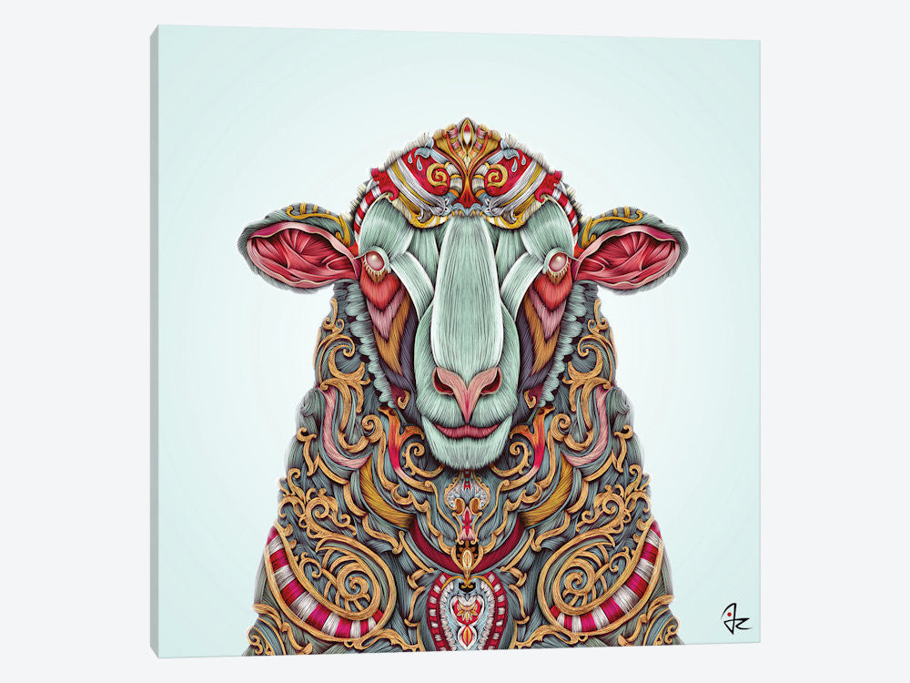 "Sheep by Giulio Rossi Canvas Print 26"" L x 26"" H x 0.75"" D - eWallArt"