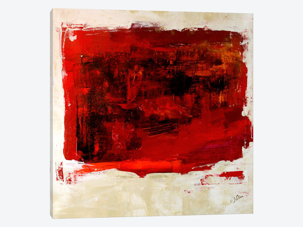 "Red Study by Julian Spencer Canvas Print 37"" L x 37"" H x 0.75"" D - eWallArt"