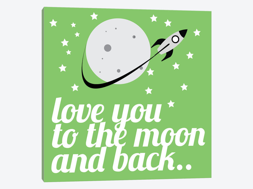KID44-1PC3-37x37 Love You to the Moon & Back by 5by5collective Canvas Print