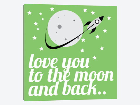 "Love You to the Moon & Back by 5by5collective Canvas Print 37"" L x 37"" H x 0.75"" D"