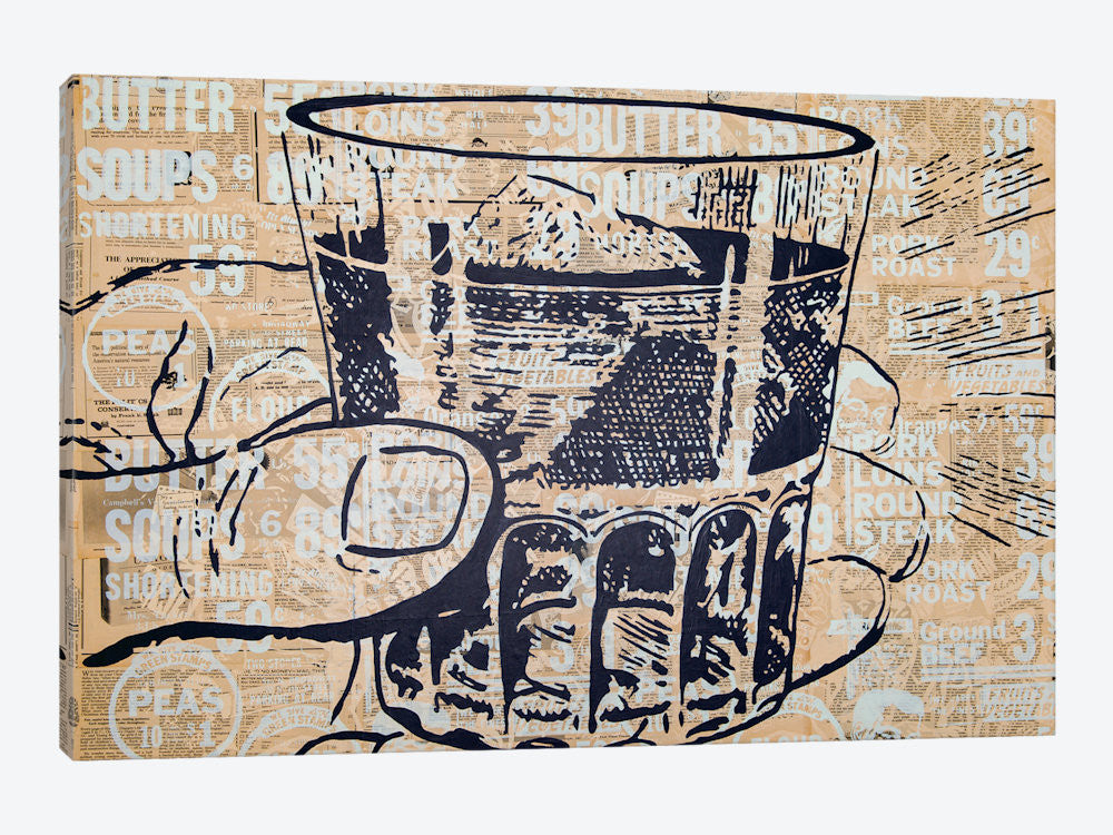 "Sippin by Kyle Mosher Canvas Print 26"" L x 18"" H x 0.75"" D - eWallArt"