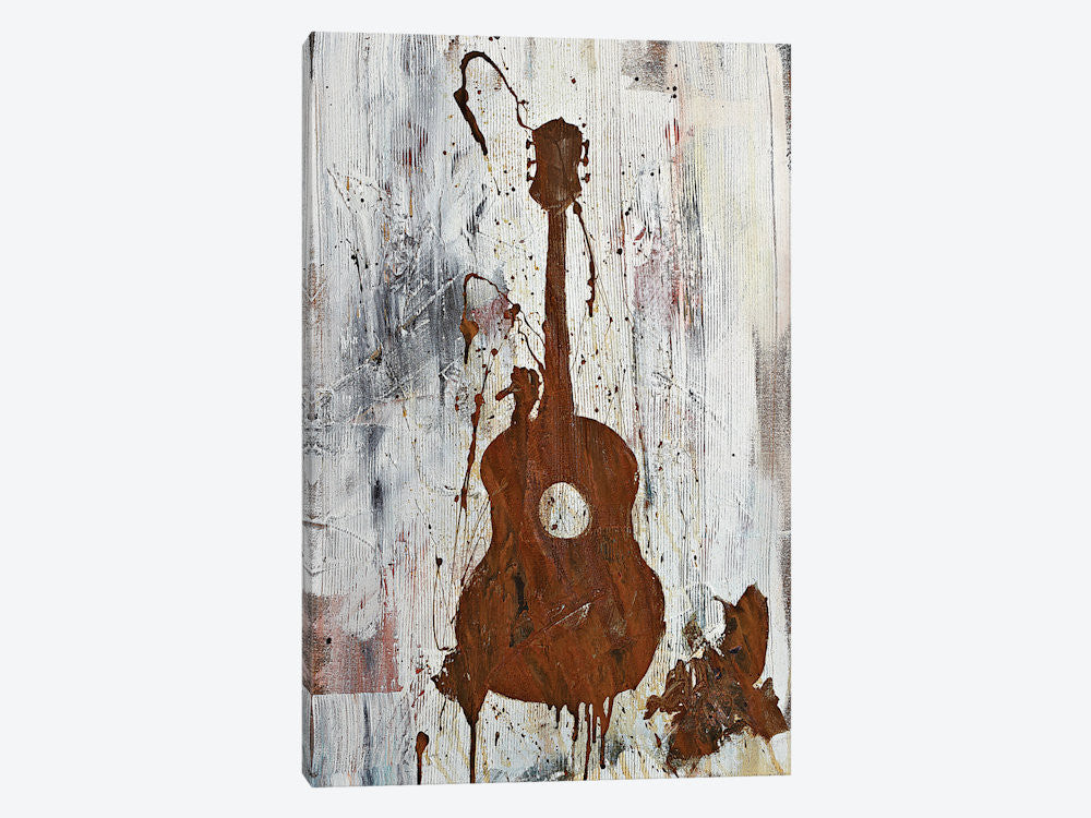 "Rusty Guitar  by Kent Youngstrom Canvas Print 18"" L x 26"" H x 0.75"" D - eWallArt"