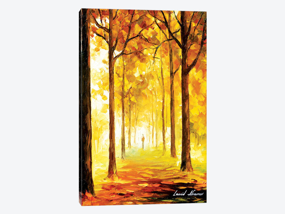 "Yellow Mood by Leonid Afremov Canvas Print 26"" L x 40"" H x 0.75"" D - eWallArt"