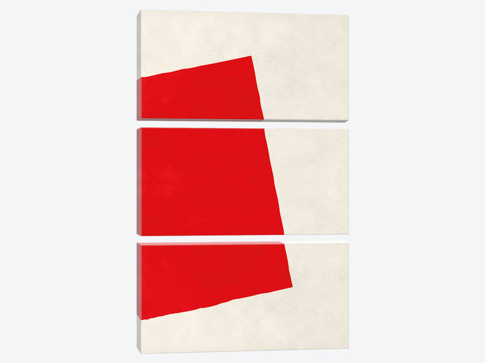 "Modern Art  Red Square After Albers by 5by5collective Canvas Print 40"" L x 60"" H x 0.75"" D - eWallArt"