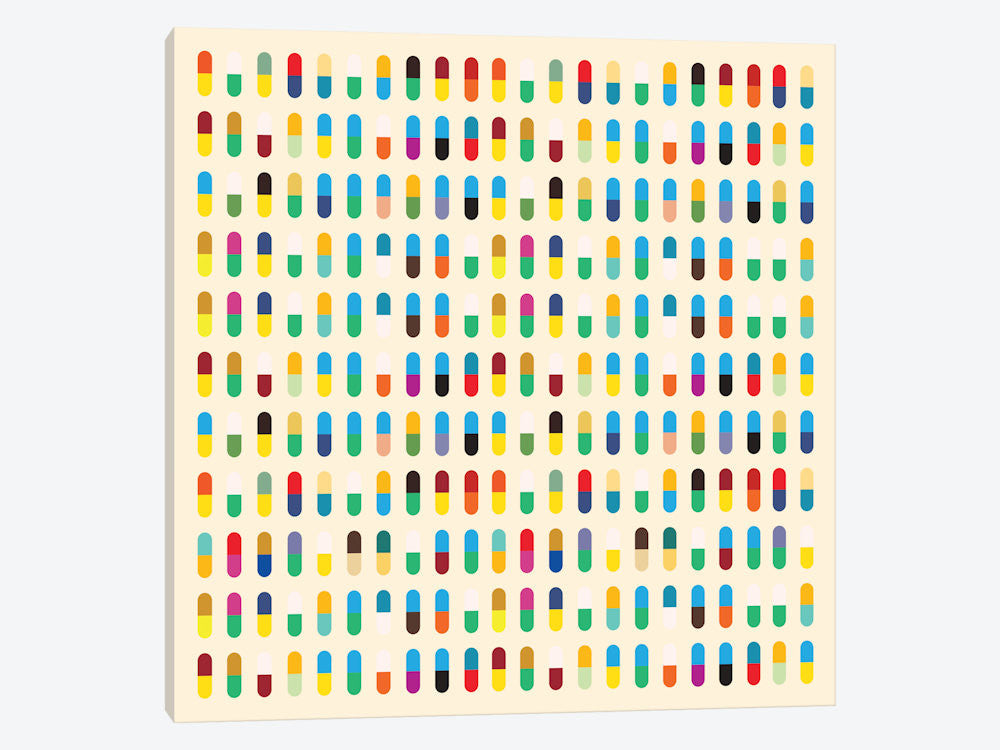 "Modern Art 10 Capsules by 5by5collective Canvas Print 37"" L x 37"" H x 0.75"" D - eWallArt"