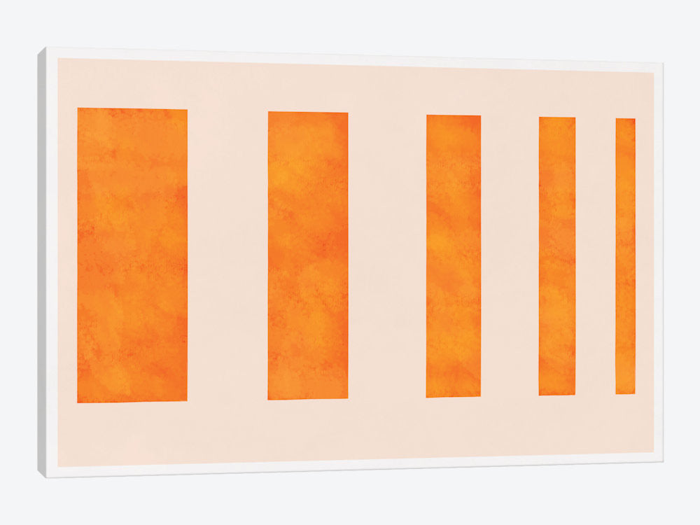 "Modern Art  Orange Levies by 5by5collective Canvas Print 40"" L x 26"" H x 0.75"" D - eWallArt"
