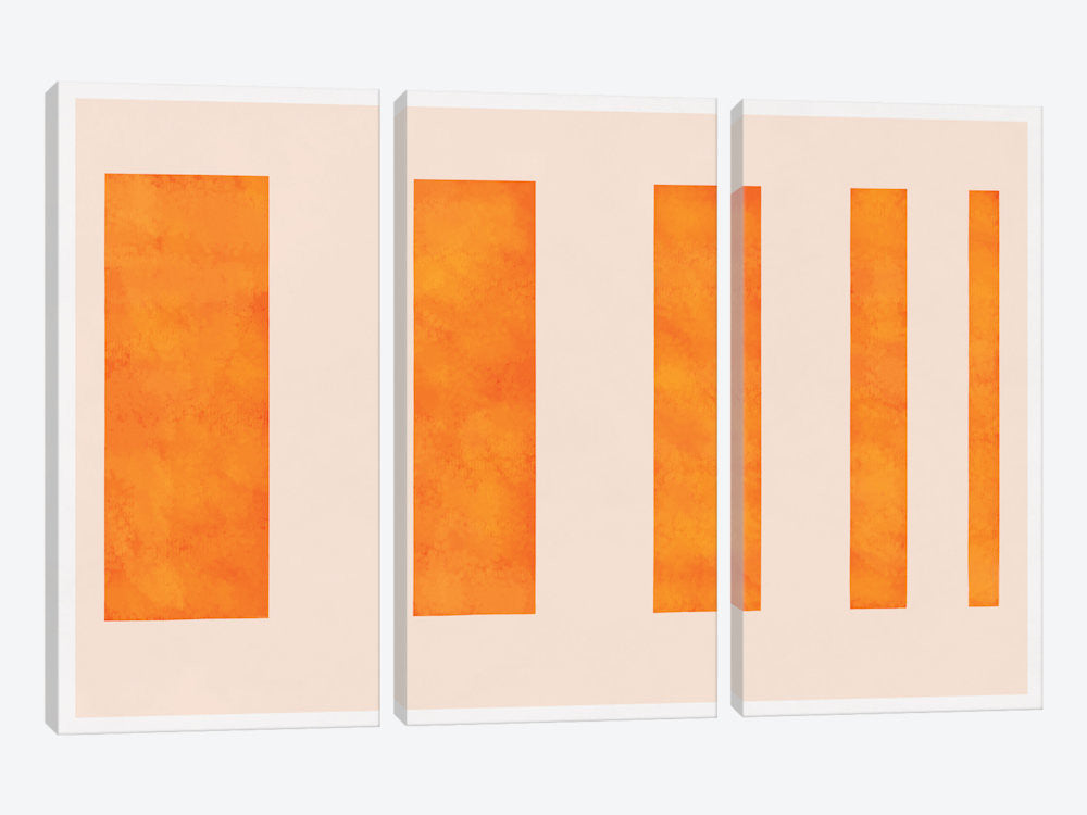 "Modern Art  Orange Levies by 5by5collective Canvas Print 60"" L x 40"" H x 0.75"" D - eWallArt"